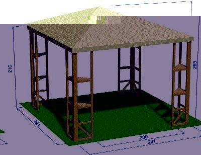 Gazebi ambiente 2000 for Codal arredo urbano